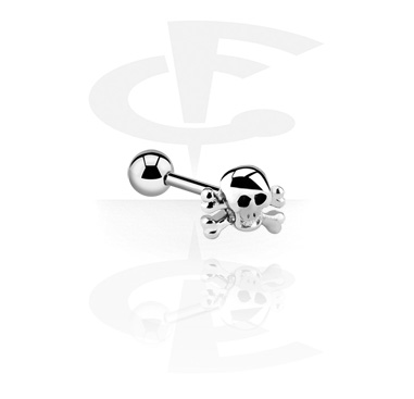 Barbells, Barbell with skull attachment, Surgical Steel 316L