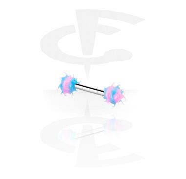 Barbells, Barbell con Bolas de puntas, Acero quirúrgico 316L ,  Silicona