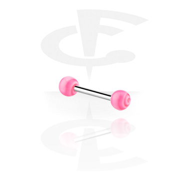 Barbell with coloured balls