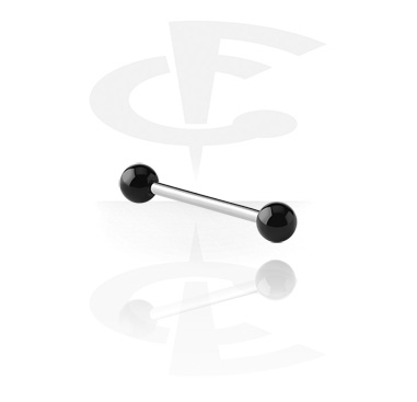 Šipkice, Barbell with UV Balls, Surgical Steel 316L, Acryl