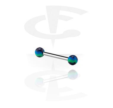 Barbells, Barbell con Bolas de colores, Acrílico, Acero quirúrgico 316L