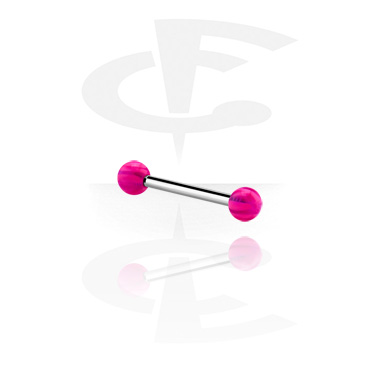 Barbells, Barbell with coloured balls, Acrylic, Surgical Steel 316L