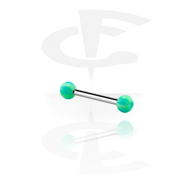 Barbells, Barbell with colored balls, Acrylic, Surgical Steel 316L