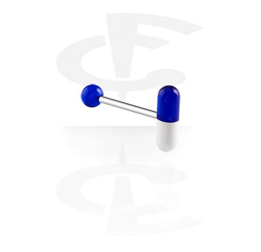 Šipkice, Barbell with Capsule, Surgical Steel 316L, Acryl