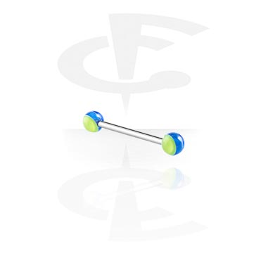 Barbells, Barbell with Layer Balls, Surgical Steel 316L, Acryl
