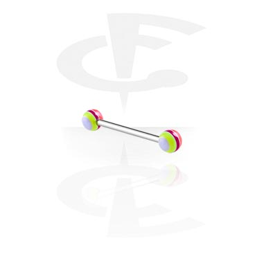 Barbellit, Barbell with Layer Balls, Surgical Steel 316L, Acryl
