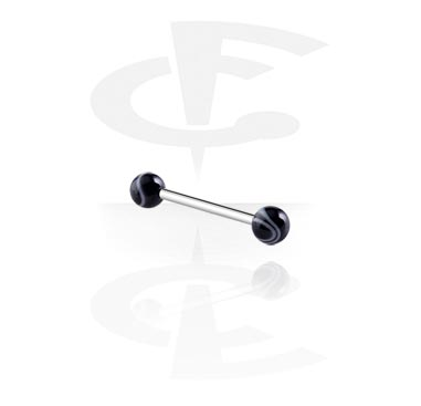 Šipkice, Barbell with Marble Balls, Surgical Steel 316L, Acryl