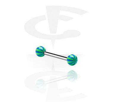 Barbell con palline multistrisce
