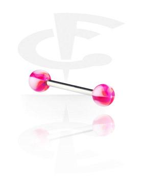 """Barbell com bolas flor """"Twister"""""""