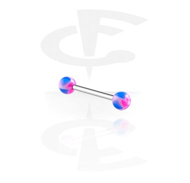 Barbells, Barbell with New Twister Flower Balls, Surgical Steel 316L, Acryl