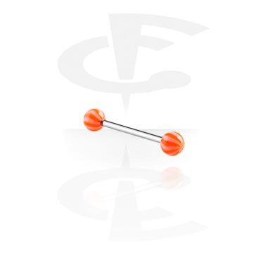 Barbells, Barbell with Twister Balls, Surgical Steel 316L, Acryl