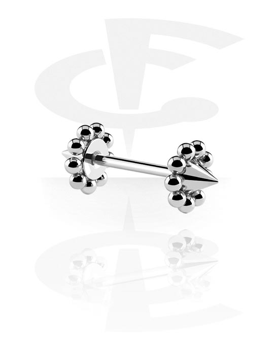 Činky, Barbell with Volcanoes, Surgical Steel 316L