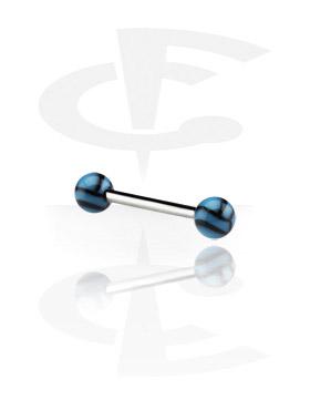 Sztangi, Sztanga zakończona piłkami do siatkówki, Surgical Steel 316L, Acryl