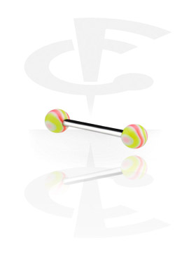 Barbell with Wave Candy Balls