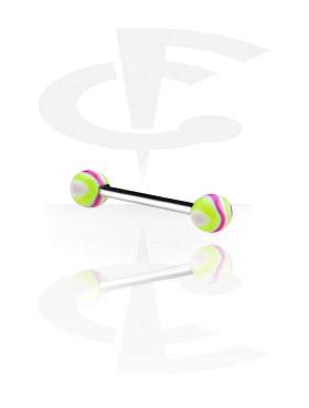 Barbells, Barbell con Wave Candy Balls, Acero quirúrgico 316L, Acrílico