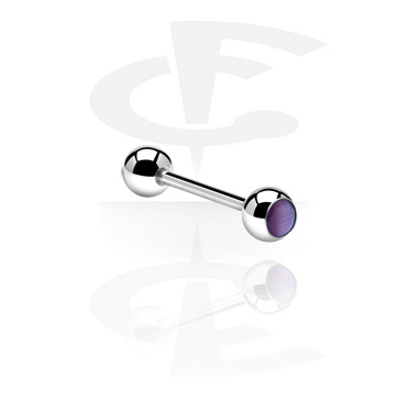 Barbell with Cat Eye Balls