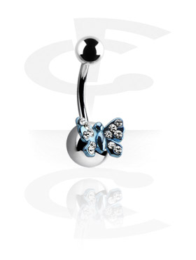 Curved Barbells, Anodized Curved Barbell - Butterfly, Surgical Steel 316L