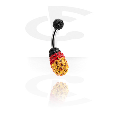 Crystaline Double Jeweled Navel Banana