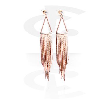 Earrings, Studs & Shields, Ear Studs, Rosegold Plated Brass