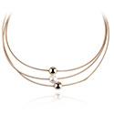 Halsketten, Modische Halskette, Vergoldetes Messing