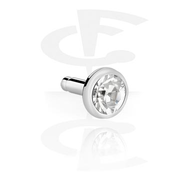 Balls & Replacement Ends, Jewelled Disc for Bioflex Push-Fit Labrets, Surgical Steel 316L