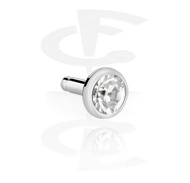 Disco com pedra de cristal para labret interno de bioflex