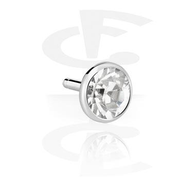 Jeweled Steel Disk for Bioflex Internal Labrets