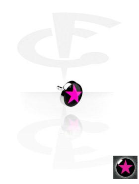 Flache Bild-Disk für Bioflex Internal Labrets