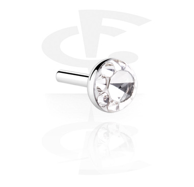Crystaline Steel Disc for Internal Labrets