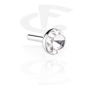 Boules et Accessoires, Crystaline Steel Disc pour Internal Labrets, Acier chirurgical 316L