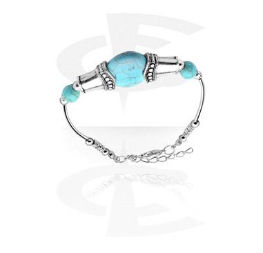 Bransolety, Fashion Bracelet, Metal, Stone