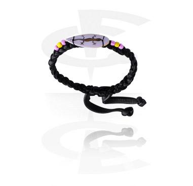 Náramky, Fashion Bracelet s Surf Design, Leather, Wood