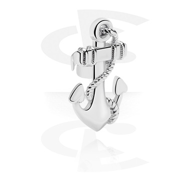 Fake Piercings, Ear Cuff with Anchor Design, Surgical Steel 316L