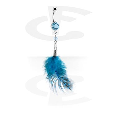 Curved Barbell with Feather