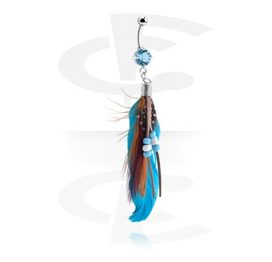 Banany, Fashion Feather Banana, Surgical Steel 316L