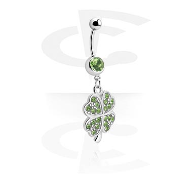 Banana with Shamrock Charm<br/>[Surgical Steel 316L]