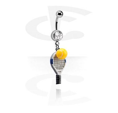 Banaanikoru, jossa kristallikoristeltu pallo ja tennis-riipus