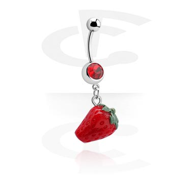 Jeweled Banana with Strawberry Charm