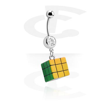 Jeweled Banana with Rubik's Cube Charm