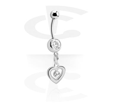 Banana with Heart Charm<br/>[Surgical Steel 316L]