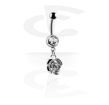 Banana with Rose Charm<br/>[Surgical Steel 316L]