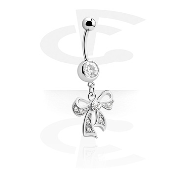 Banana with Bow Charm<br/>[Surgical Steel 316L]
