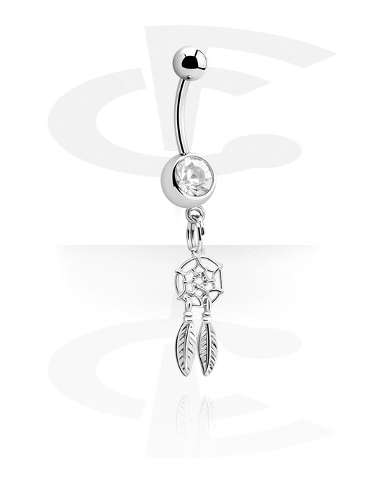 Banany, Banana with Dreamcatcher Charm<br/>[Surgical Steel 316L], Surgical Steel 316L
