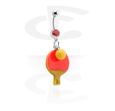 Banana with Tennis Charm<br/>[Surgical Steel 316L]