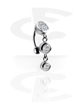 Curved Barbells, Jewelled Curved Barbell, Surgical Steel 316L