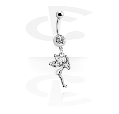 Curved Barbell with Fairy Dangle
