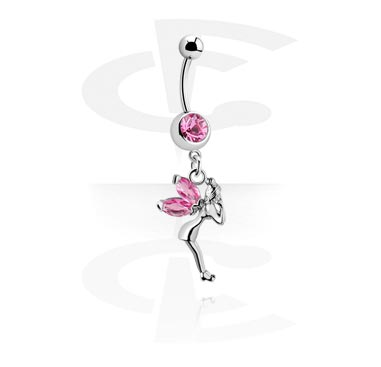 Curved Barbells, Curved Barbell with Fairy Dangle, Surgical Steel 316L