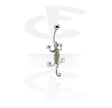 Curved Barbells, Curved Barbell with Lizard, Surgical Steel 316L