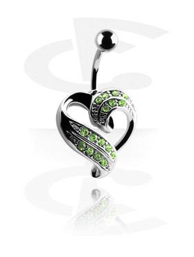 Trendy bøyd barbell med hjerte