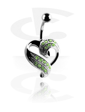 Trendy Curved Barbell with Heart